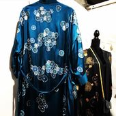 Créations MiLauRe. . . #madeinfrance #madeinfrance🇫🇷 #thebox #artisanatfrancais #artisanatfrancais #silkdress #concepstoreparis #galerieslafayette #kimonostyle #fashionsilk #silkfashion #faitmain #